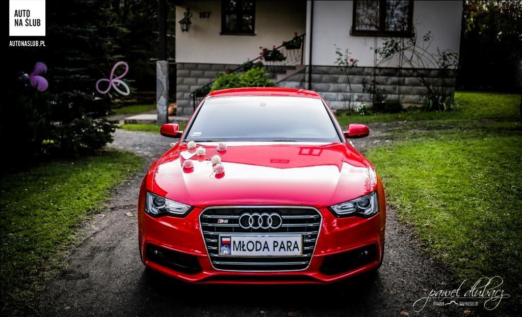 Tylko na zewnątrz Audi A5/S5 Sportback - Auto do ślubu, samochód do ślubu KU57